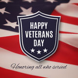 Veterans day background stock illustration