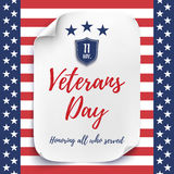 Veterans Day background. Stock Image