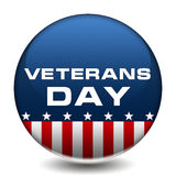 Veterans Day Badge. American veterans day icon button Royalty Free Stock Images