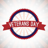 Veterans Day Badge Stock Photo
