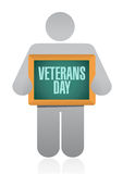 Veterans day board sign illustration design icon Stock Photography