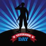 Veterans Day burst design Stock Image