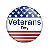 Veterans Day Button Stock Photography