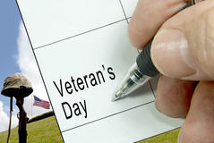 Veterans Day, Calendar Notation Royalty Free Stock Images
