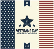 Veterans day. Card or background. vector illustration royalty free illustration