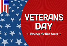 Veterans day celebration card Stock Image