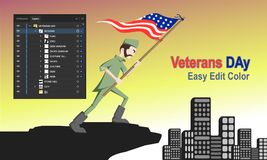 Veterans Day character. For your event celebrate company or other.. thank for download. | usa military army american soldier war flag force royalty free illustration