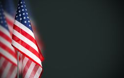 Veterans day concept of USA flag on green background Stock Photos