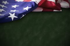 Veterans day concept of USA flag on green background Royalty Free Stock Photos