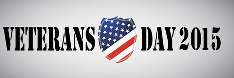 Veterans Day ebmleme. American Shield. Stock Images