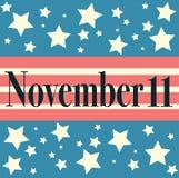 Veterans Day Embleme. November 11 Stock Photos