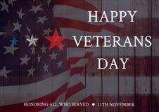 Veterans day flag. Digital composite of veterans day flag Stock Images