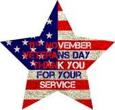 Veterans day flag Royalty Free Stock Photos