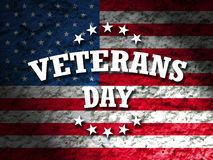 Veterans day. Greeting card american flag grunge background Royalty Free Stock Photos