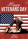 Veterans Day Greeting Card American Stock Photos