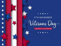 Veterans Day greeting card. stock photography