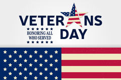 Veterans day. Veterans day greeting card. Honoring all who served. Vector illustration Royalty Free Stock Photo