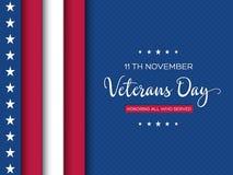 Veterans Day greeting card. royalty free stock photos