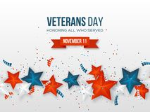 Veterans Day greeting card. royalty free stock photography