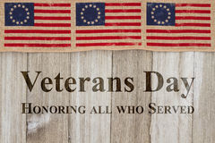 Veterans Day greeting Stock Photos