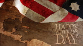 Veterans Day. Happy Veterans Day. Usa Flag and Chart Royalty Free Stock Photo