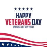 Veterans Day. Honoring all who served. royalty free illustration