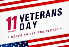 Free Veterans Day. Honoring All Who Served, November 11 Stock Photo - 160537450