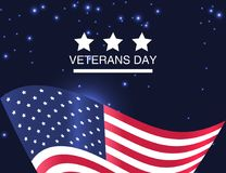 Veterans Day. Honoring all who served. USA flag on background. Veterans Day. Honoring all who served. USA  flag on  background. Vector Illustration Royalty Free Stock Photos