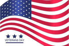 Veterans Day. Honoring all who served. USA flag on white background. Veterans Day. Honoring all who served. USA  flag on white background. Vector Illustration Stock Image