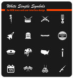 Veterans day icon set. Veterans day web icons for user interface design Stock Photo