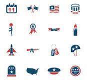 Veterans day icon set Royalty Free Stock Photo