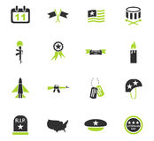Veterans day icon set Royalty Free Stock Images