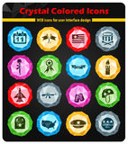 Veterans day icon set. Veterans day web icons for user interface design Stock Photos