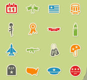 Veterans day icon set Stock Photos