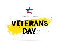 Veterans Day. Lettering. Star Stock Images