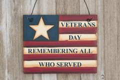 Veterans Day message on vintage sign