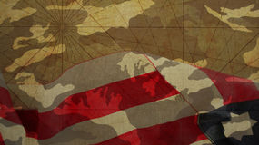 Veterans Day. Paper Airplane and Camouflage. Background Royalty Free Stock Photo