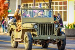 Veterans Day Parade 2018. Portland, Oregon, USA - November 12, 2018: The annual Ross Hollywood Chapel Veterans Day Parade, in northeast Portland stock images