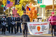 Veterans Day Parade 2018. Portland, Oregon, USA - November 12, 2018: The annual Ross Hollywood Chapel Veterans Day Parade, in northeast Portland royalty free stock images