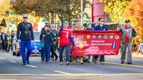 Veterans Day Parade 2018. Portland, Oregon, USA - November 12, 2018: The annual Ross Hollywood Chapel Veterans Day Parade, in northeast Portland royalty free stock photography