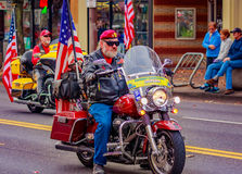 Veterans Day Parade 2016. Portland, Oregon, USA - November 11, 2016: The annual Ross Hollywood Chapel Veterans Day Parade, in northeast Portland Royalty Free Stock Photography