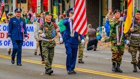 Veterans Day Parade 2016. Portland, Oregon, USA - November 11, 2016: The annual Ross Hollywood Chapel Veterans Day Parade, in northeast Portland Stock Photo