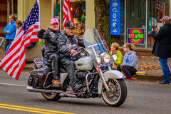 Veterans Day Parade 2016. Portland, Oregon, USA - November 11, 2016: The annual Ross Hollywood Chapel Veterans Day Parade, in northeast Portland Royalty Free Stock Images