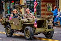 Veterans Day Parade 2016. Portland, Oregon, USA - November 11, 2016: The annual Ross Hollywood Chapel Veterans Day Parade, in northeast Portland Stock Photos