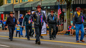 Veterans Day Parade 2016. Portland, Oregon, USA - November 11, 2016: The annual Ross Hollywood Chapel Veterans Day Parade, in northeast Portland Stock Images