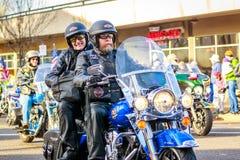 Veterans Day Parade 2018. Portland, Oregon, USA - November 12, 2018: Combat Veteran Motorcycle Association in the annual Ross Hollywood Chapel Veterans Day stock image