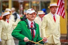 Veterans Day Parade 2017. Portland, Oregon, USA - November 11, 2017: Royal Rosarians in the annual Ross Hollywood Chapel Veterans Day Parade, in northeast royalty free stock photography
