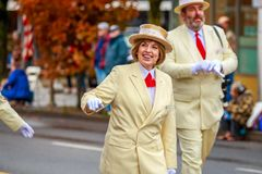 Veterans Day Parade 2017. Portland, Oregon, USA - November 11, 2017: Royal Rosarians in the annual Ross Hollywood Chapel Veterans Day Parade, in northeast stock photos