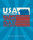 Veterans day poster. Stock Photography