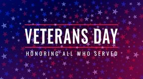 Veterans Day - Remember All Whoo Served Greeting Card Stock Photo